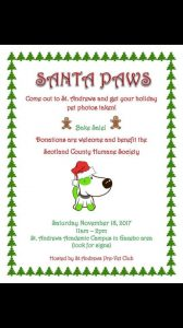 Santa Paws Fund Raiser