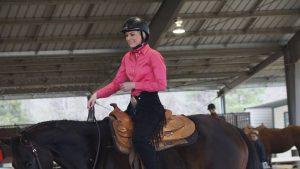 Hannah Newman winning Advanced Horsemanship