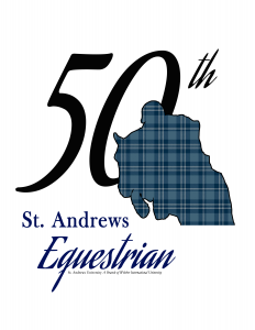 St. Andrews Equestrian 50th logo